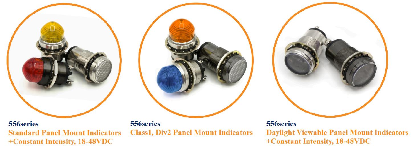 Dialight LEDパネルマウントインジケータ 556シリーズ