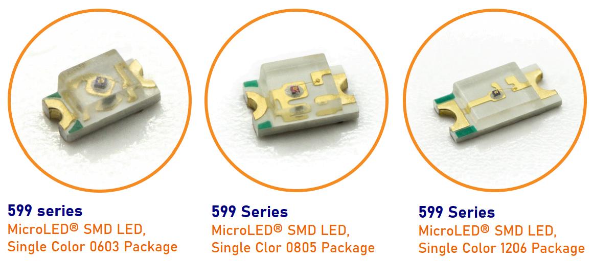 Dialight LEDパネルマウントインジケータ 653, 654, 655シリーズ