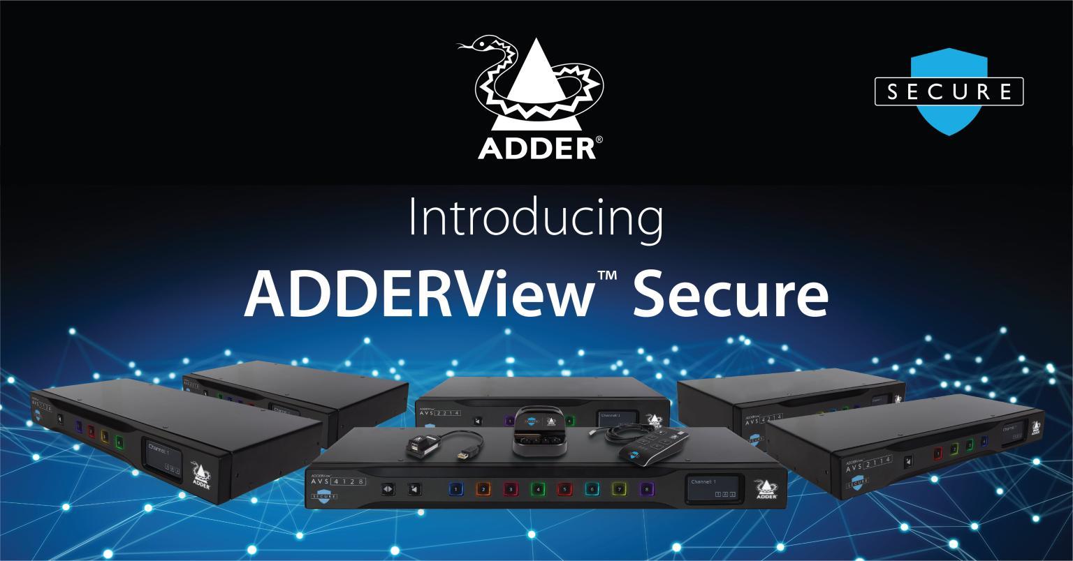 【製品情報】 NIAP PP 4.0準拠 サイバー攻撃対策 セキュアKVMスイッチ ADDERView™AVS SECURE シリーズ