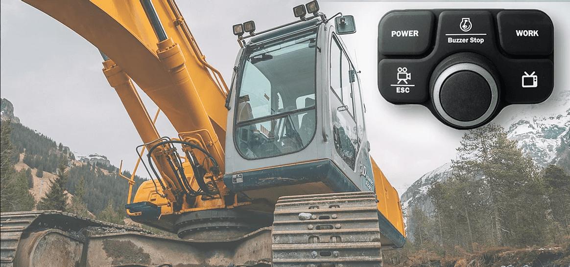 【Grayhill(グレイヒル)社#14 / 採用事例】建設機械・特殊車両へカスタムキーパッドのご提案