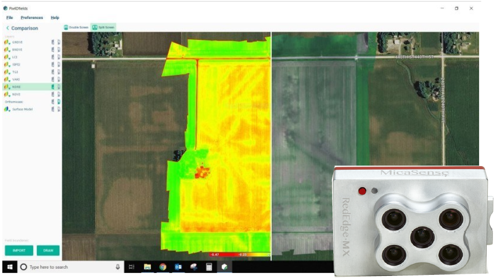 MicaSense社マルチスペクトルカメラを使用した大豆生産農場における陶管の位置特定